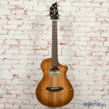 Breedlove Pursuit Exotic Concert CE Myrtlewood Acoustic-Electric Guitar Bourbon Sunset Burst x3326