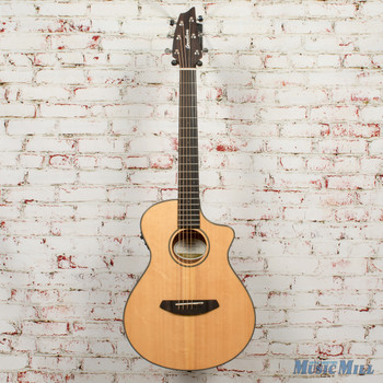 Breedlove Discovery Companion CE Acoustic-Electric Guitar Gloss Natural x3828