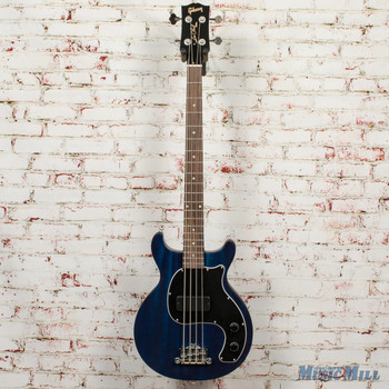 Gibson Les Paul Junior Tribute DC Bass Blue Stain + FREE HOODED SWEATSHIRT