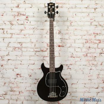 Gibson Les Paul Junior Tribute Doublecut Bass - Worn Ebony