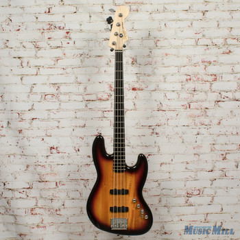 2017 Squier Deluxe Active Jazz Bass 2-Tone Sunburst x4769 (USED)