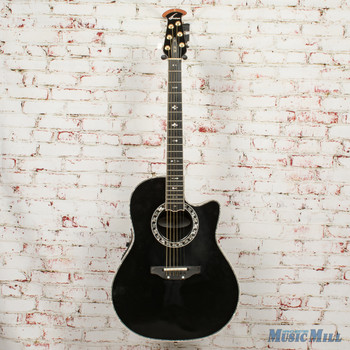 2005 Ovation Custom Legend LX Acoustic Electric Guitar Black w/OHSC x5142 (USED)