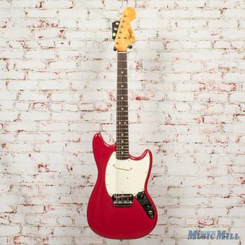 1966 Fender Musicmaster II Electric Guitar Dakota Red w/HSC x5806 (USED)
