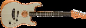 Fender American Acoustasonic Strat, Ebony Fingerboard, Transparent Sonic Blue