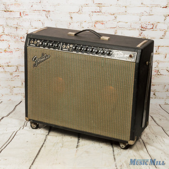 1967 Fender Twin Reverb 85w Guitar Combo Amp Blackface x9369 (USED)