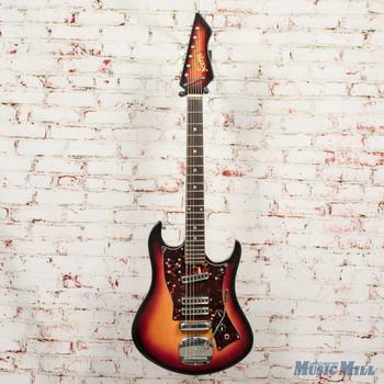 Vintage 1960s Norma EG-411-3 Electric Guitar Sunburst w/OHSC x5965 (USED)