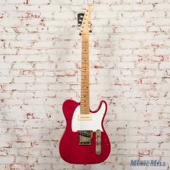 Grover Jackson Hellhound GJ2 Relic Electric Guitar Candy Apple Red x9604 (USED)