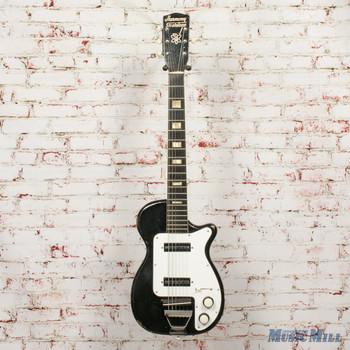 1954 Harmony Stratotone Doublet H88 Black x5756 (USED)