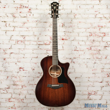 2018 Taylor 524ce V-Class - Shaded Edgeburst, Mahogany Back and Sides x8110 (USED)