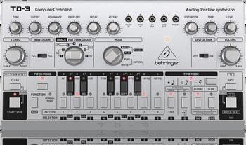 Behringer TD-3-SR Analog Bass Line Synthesizer - Silver