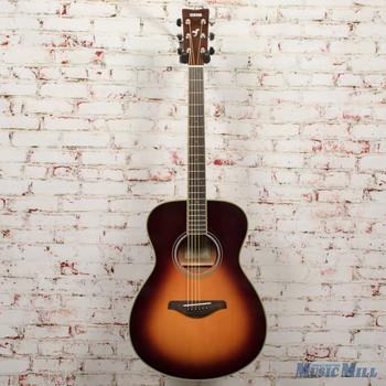 Yamaha FS-TA TransAcoustic Concert Acoustic Electric Guitar Brown Sunburst x0293