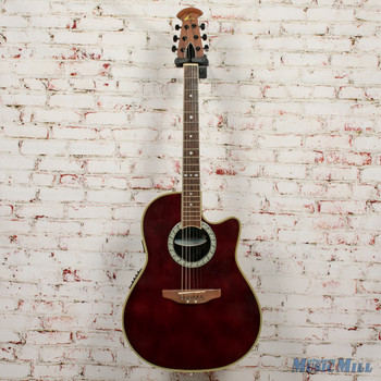 Ovation Celebrity CC057 Acoustic Electric Guitar Wine Red x8803 (USED)