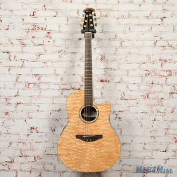 Ovation Celebrity Acoustic Electric Guitar Quilted Maple Top Natural x0683 (USED)