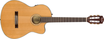 Fender CN-140SCE Nylon Thinline, Walnut Fingerboard, Natural w/Case