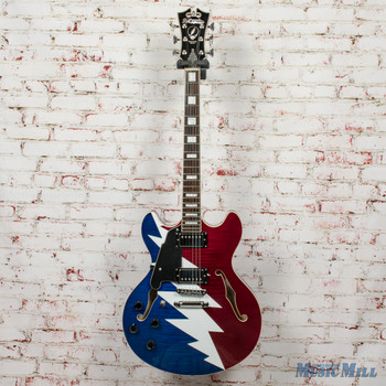 D'angelico Greatful Dead LH Left-Handed Electric Guitar x3698 (USED)