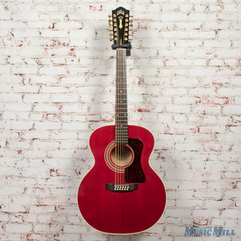 Guild JF30-12 12-String Acoustic Guitar Red x0660 w/Case (USED)