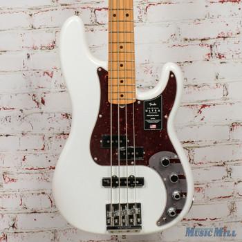 Fender American Ultra Precision Bass®, Maple Fingerboard, Arctic Pearl x5590