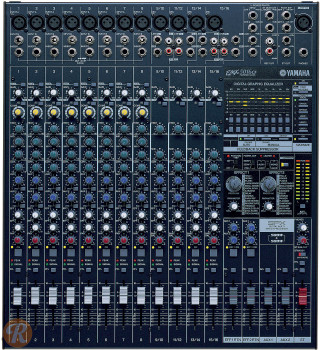 YAMAHA EMX5016CF 16-Input Powered Mixer w/ Dual 500 Watt Power Amp