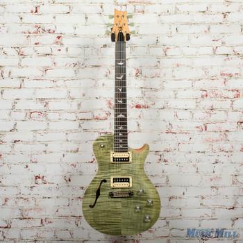2016 PRS SE Zach Myers Semi-Hollow Electric Guitar - Trampas Green x0692 w/Bag (USED)