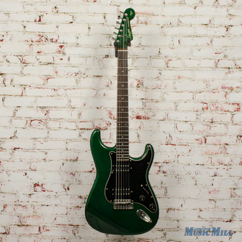 Vintage 80s Squier by Fender Contemporary Series Stratocaster HH Green Japan Fujigen, JV Serial x7906