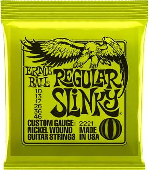Ernie Ball 2221 Regular Slinky Nickel Wound Guitar Strings - .010-.046