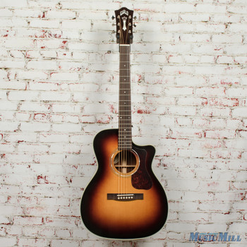 Guild OM-140CE Electric/Acoustic Guitar Antiqueburst B-Stock x1761