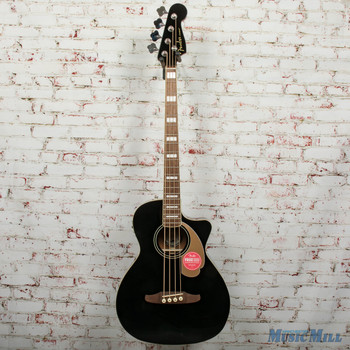 Fender Kingman Bass, Walnut Fingerboard, Black Demo - iwa1900475