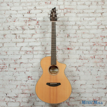 Breedlove Pursuit Exotic Concert CE Acoustic/Electric Guitar Sitka-Myrtlewood Natural Gloss x1993