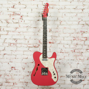 Fender  2-Tone Telecaster Thinline Fiesta Red Ebony Fretboard (DEMO) X6282