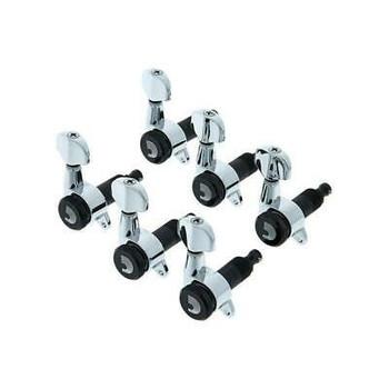 D'Addario Auto-Trim Locking Tuning Machines - 6 In-line - Chrome
