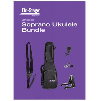 On-Stage UPK1000 Soprano Ukulele Bundle