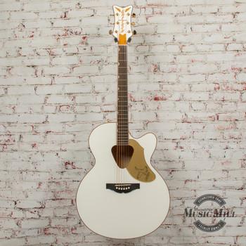 Gretsch 5022CWFE Rancher Falcon Jumbo Cutaway Acoustic/ Electric White x4505