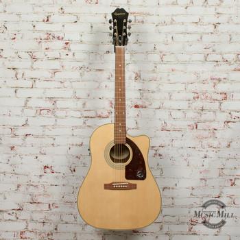 Epiphone AJ-210CE Outfit Acoustic Electric Guitar Natural x3536