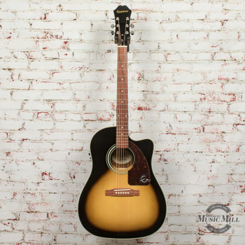 Epiphone AJ-210CE Outfit (Incl. Hard Case) Acoustic Electric Guitar Vintage Sunburst x6479