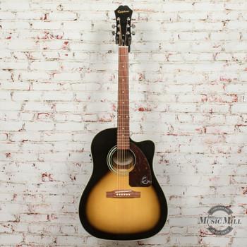 Epiphone AJ-210CE Outfit (Incl. Hard Case) Acoustic Electric Guitar Vintage Sunburst x6479