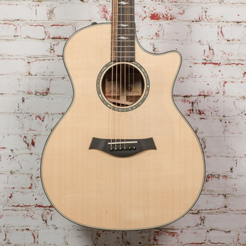 Taylor 814ce Limited Edition Cocobolo/Lutz V-Class Acoustic/Electric Guitar Natural (USED) x0079