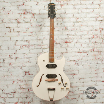 Epiphone George Thorogood White Fang ES-125 TDC Outfit Electric Guitar Bone White x8749