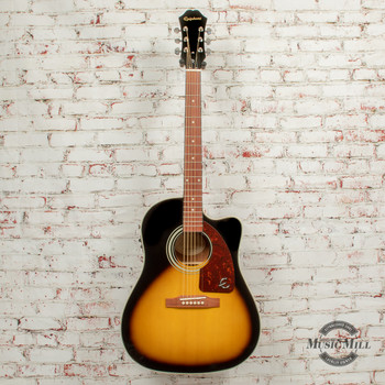 Epiphone AJ-210CE Outfit (Incl. Hard Case) Acoustic Electric Guitar Vintage Sunburst x3679