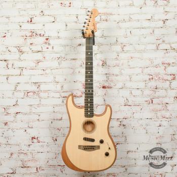 Fender American Acoustasonic Strat Electric Guitar, Ebony Fingerboard, Natural x1636
