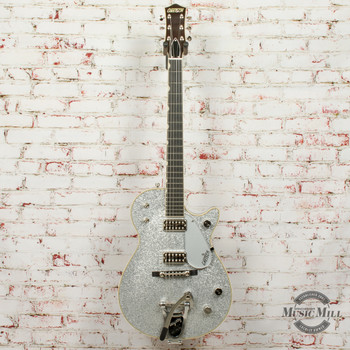 Gretsch G6129T-59 Vintage Select '59 Silver Jet™ Electric Guitar with Bigsby®, TV Jones®, Silver Sparkle x4430