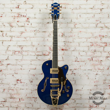 2019 Gretsch G6659TG Players Edition Broadkaster Jr. Center Block Electric Guitar Azure Metallic x2573 (USED)