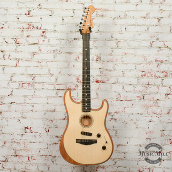 Fender American Acoustasonic® Strat® Electric Guitar, Ebony Fingerboard, Natural x1519