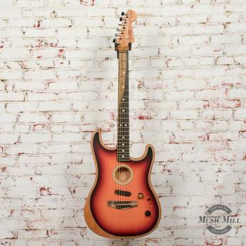 Fender American Acoustasonic® Strat® Electric Guitar, Ebony Fingerboard, 3-Color Sunburst x2126