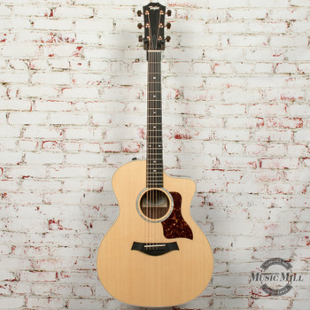 Taylor 214ce Deluxe Prototype Acoustic Electric Guitar Natural x9579
