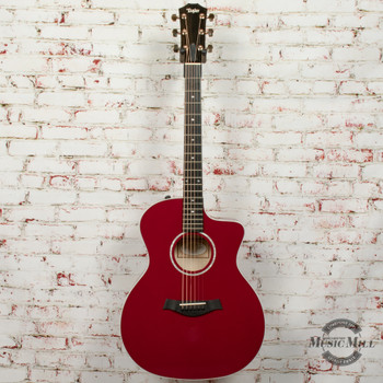 Taylor 214ce-Red DLX Prototype Acoustic-Electric Guitar - Red x9380
