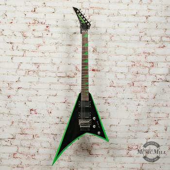 Jackson X Series Rhoads RRX24 Electric Guitar Black with Neon Green Bevels (DEMO) xICJ1850313