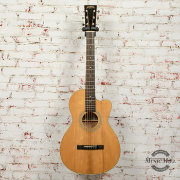 Recording King Studio Series 12 Fret Cutaway ThermoCure Top 0 Acoustic Guitar Natural x0766 (USED)