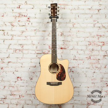 Recording King RD-G6-CFE5 Solid Top Dreadnought Cutaway Acoustic-Electric Guitar Natural x0623 (USED)