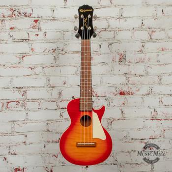 Epiphone Les Paul Acoustic/Electric Ukulele Outfit (Concert) Heritage Cherry x8009