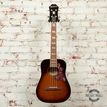 Epiphone  Hummingbird Acoustic/Electric Ukulele Outfit (Tenor) Tobacco Sunburst x5611